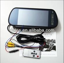 Best 7inch TFT LCD monitor Car Rear view Mirror car monitor Bluetooth mp5 optional