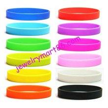 12 Colours Silicone Rubber Sport Wristband Cuff Bracelet Wrist Bands