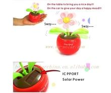Flip Flap Solar Apple Flower magic solar swing flower Solar Electronics car decoration /Novelty Items wholesale