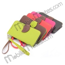 Newest Wallet Stand TPU+Leather Case Cover for Samsung Galaxy S5 Leather Flip Cover Case