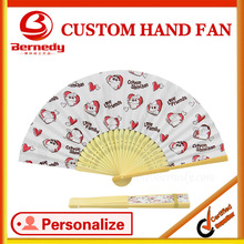OEM paper bamboo fan with cartoon figures