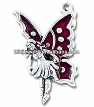fashion wholesale magenta fairy pendant charm jewelry