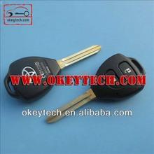 Okeytech toyota smart key for Toyota Camry 2 buttons remote key shell toy43 for toyota smart key remote