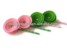 2014 hot sell handmade Felt beautiful flower hair pins made in China