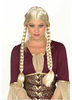 Synthetic hair Braided Renaissance blonde wig