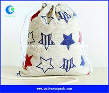 Nice design cotton christmas gift bag with star logo