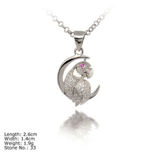 [PZ3-0013 ]New Design Parrot 925 Sterling Silver Pendant with CZ Stones