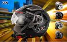 two visors open face helmet