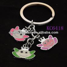 Promotional Metal Enamel Crown Keychain Princess