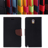 Protective magnetic stand flip leather TPU wallet case for Note 3 phone case
