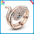 metal pod crossover forma animal anel sexo homens design de ouro anel de cobra