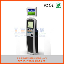 LKS touch screen kiosk self service with cash acceptor