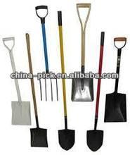spades shovels rakes