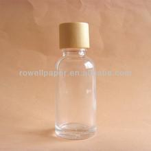 Boston round 30ml glass bottle and wooden cap