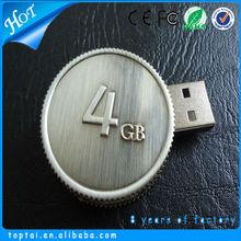 Fastest bulk coin circle shape flash pen drive