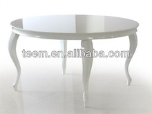 European new antique design round dining table round stone top dining tables