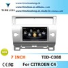 Car DVD Player for Citroen C4 with Phonebook iPod RDS BT 3G WIFI A8 Chipset CPU 1G MHZ RAM 512MB 4G Memory S100