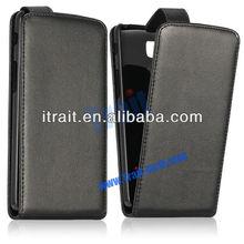 Black Flip Leather Case for LG G Pro Lite Dual D686