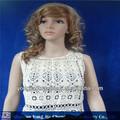 Laço fábrica fornecimento novo projeto de verão das senhoras colete de crochet( yjcv057)