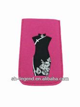 mini felt phone case for ladies, Reach standard