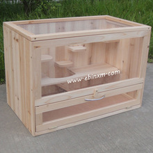 Samll wooden pet house hamster house