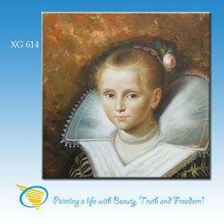 xiamen factory handmade beautiful lady figure oil painting