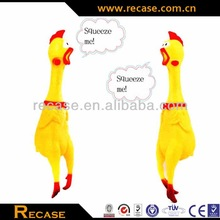 Promotional Squeeze Shrilling Screaming Chicken,soft plastic rooster bath toys.