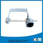 CE and RoHS approved power cord extension with Euro plug and socket spiral cable