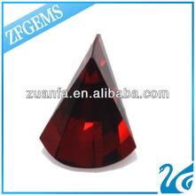 wuzhou gemstone fan shape fancy cut loose cubic zirconium cz