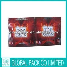 new design globalpack top gear 1g herbal incense bag
