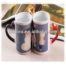 Wholesale color change mug/magic mug with lover/sublimation ceramic couple cups