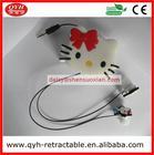 Beautiful Design hello kitty Headphones Earphones With Retractable Cord