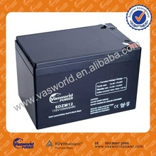 dry charged lead acid battery 12v12ah for solar battery