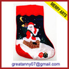 2014 china new innovative product christmas tube red school girls socks felt crafts