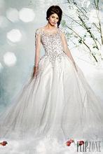 Jm. Bridals cy2318 exquisito de tul de cuentas bola de manga larga vestido de la boda vestidos 2014