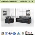 Canto sofá de couro preto, sofá de couro de cristal, guangzhou china sofa