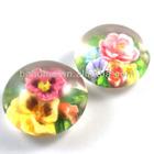 2014 popular round clear resin lucite flower beads gitfs