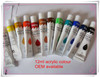 12ml 12colors poly acrylic paint, fast drying acrylic colour, water based acrylic paint manufacture, EN71-3,EN71-9