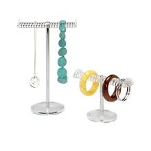 Tabletop acrylic bracelet display shelf metal bust jewelry tube