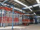 QT37 series engineering machinery double hangers pass-through type sandblasting equipment