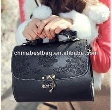 Trendy carving handbag for witch one shoulder female handbag