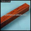 grano de madera recubierto de aluminio tubo cuadrado