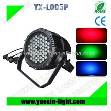 54pcs 3w RGBW outdoor led par 64 with waterproof Almuinum