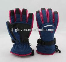 Ladies hand nylon snow gloves
