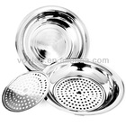 High quality best selling Stainless steel food trays with Steamer dishes