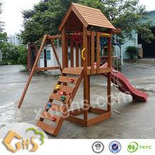Wooden Swings and Slides for Children