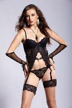 Hot xxxl com leather corset bondage garter g-strin Sexy China lingerie factory