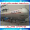 CLW 3 axles LPG tanker truck trailer , hot sale for LPG tanker Trailer