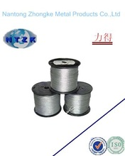 2014 carbon fiber core steel wire rope with good quality made in Nantong