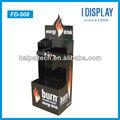 Encendedor de cigarrillos de publicidad punto de venta de nivel corrugado góndolas/mostradores/expositores
